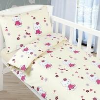 Lenjerie de pat pentru copii Agáta - Pisicuţă, 90 x 135 cm, 45 x 60 cm