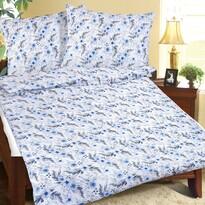 Bellatex Lenjerie de pat creponată Floare albastră, 140 x 200 cm, 70 x 90 cm
