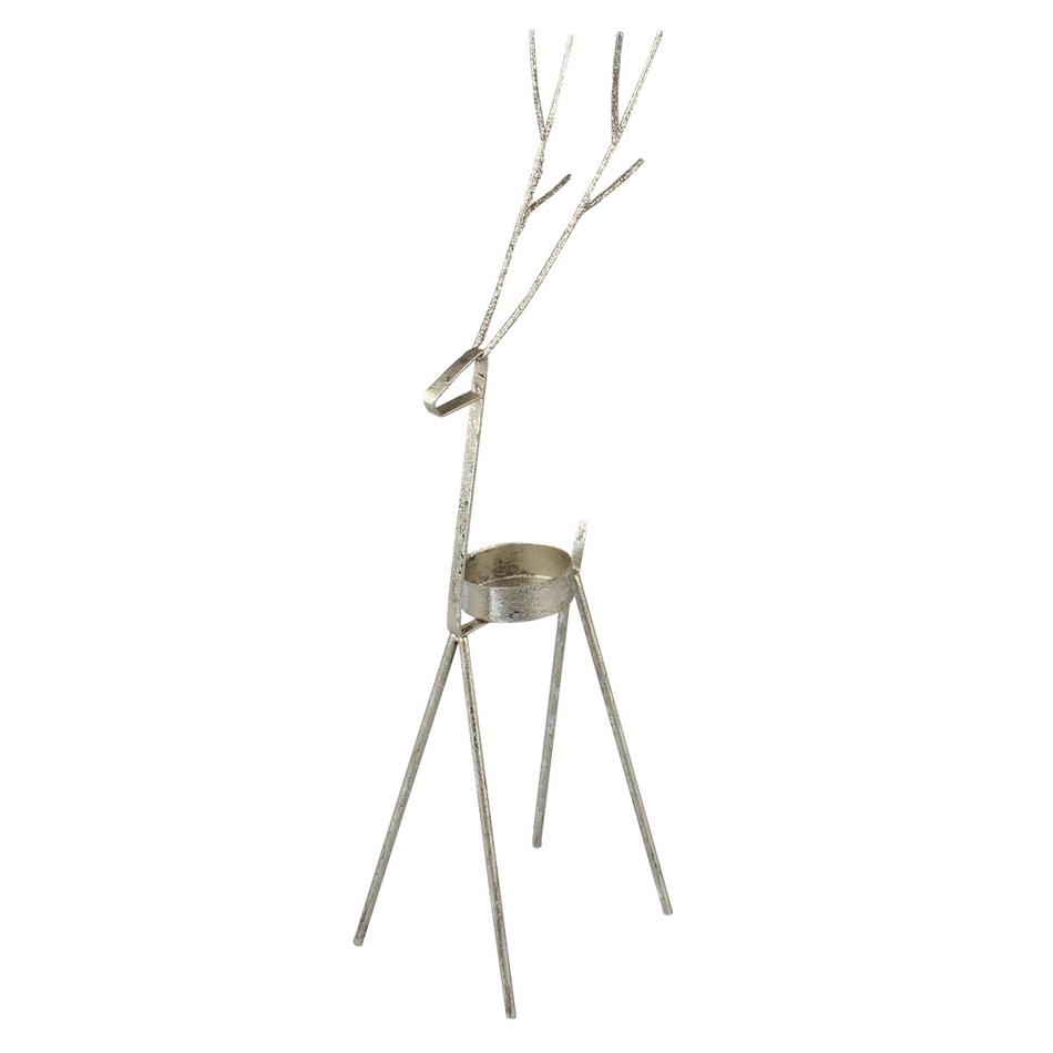 Vánoční kovový svícen Sob, 26 cm