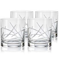 Crystalex CXBR082 4-dielna sada pohárov na whisky, 280 ml
