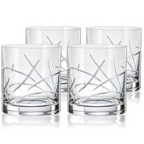 Crystalex CXBR082 4dílná sada sklenic na whisky, 280 ml