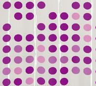 Kleine Wolke sprchový závěs Puntíky fialová, 180 x 200 cm