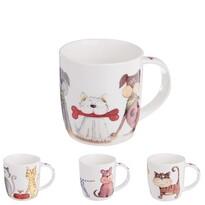 Orion Sada porcelánových hrnčekov Psy a Mačky 0,4 l, 4 ks