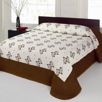 Přehoz na postel Bela béžová, 240 x 260 cm
