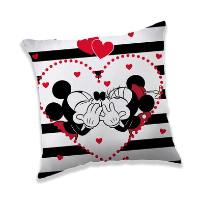 Jerry Fabrics Polštářek Mickey a Minnie in Stripes, 40 x 40 cm