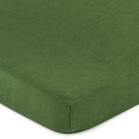 4Home jersey prostěradlo olivově zelená, 180 x 200 cm