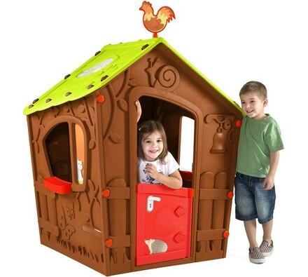 Keter Magic House dětský domek hnědý