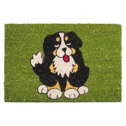 Kokosová rohožka Pes čierný 358 zelená, 40 x 60 cm