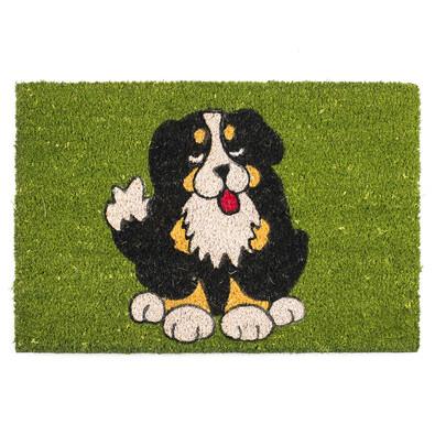 Kokosová rohožka Pes černý 358 zelená, 40 x 60 cm