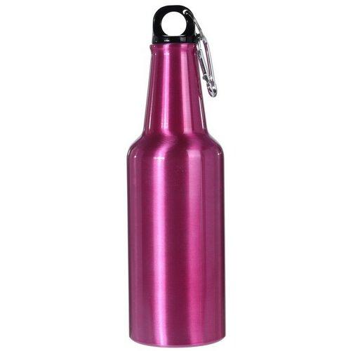 Športová hliníková fľaša s uzáverom 600 ml, ružová