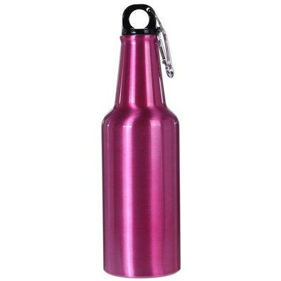Koopman Športová hliníková fľaša s uzáverom 600 ml, ružová