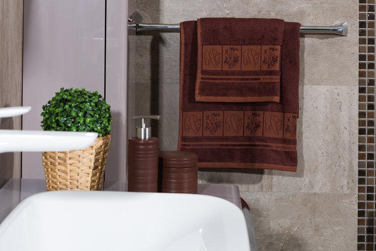 4Home Osuška Bamboo Premium hnědá, 70 x 140 cm