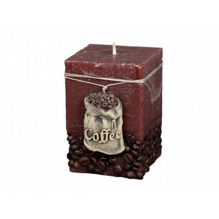 Dekorativní svíčka Coffee Bag hnědá, 10 cm