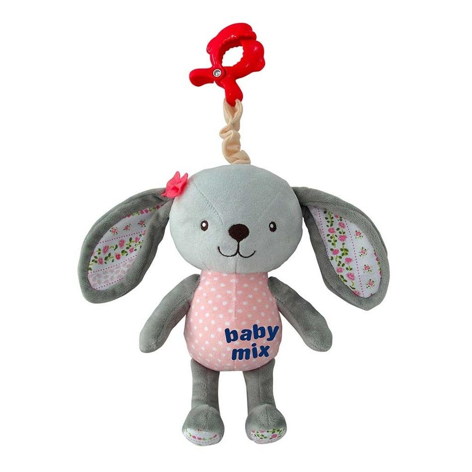 Baby Mix Detská plyšová hračka s hracím strojčekom Králik