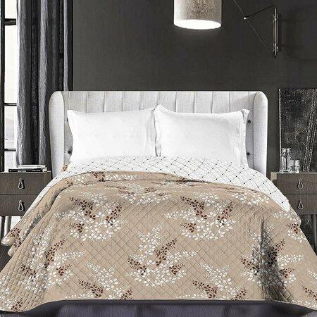Cuvertură de pat DecoKing Calluna, maro, 220 x 240 cm