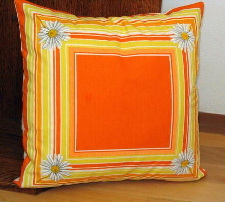 Povlaky na polštářky Kopretina, 40x 40 cm, sada 2 , oranžová, 40 x 40 cm