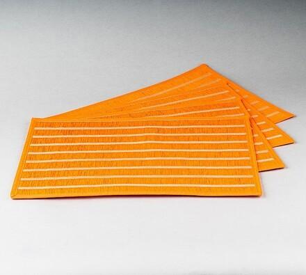 Prostírání Natur, oranžová, 30 x 45 cm, sada 4 ks