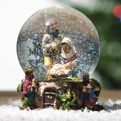 Sněžítko s betlémem, pr. 8 cm