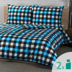 2 seturi lenjerie de pat 4Home Checker, 2 x 140 x 200 cm, 70 x 90 cm