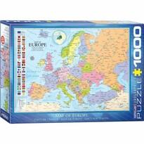 EuroGraphics Puzzle Mapa Európy, 1000 dielikov