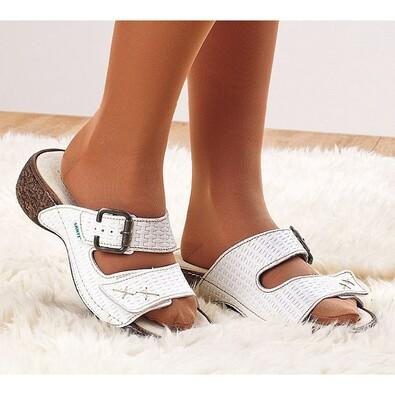 Dámske pantofle Santé, bílé, 35