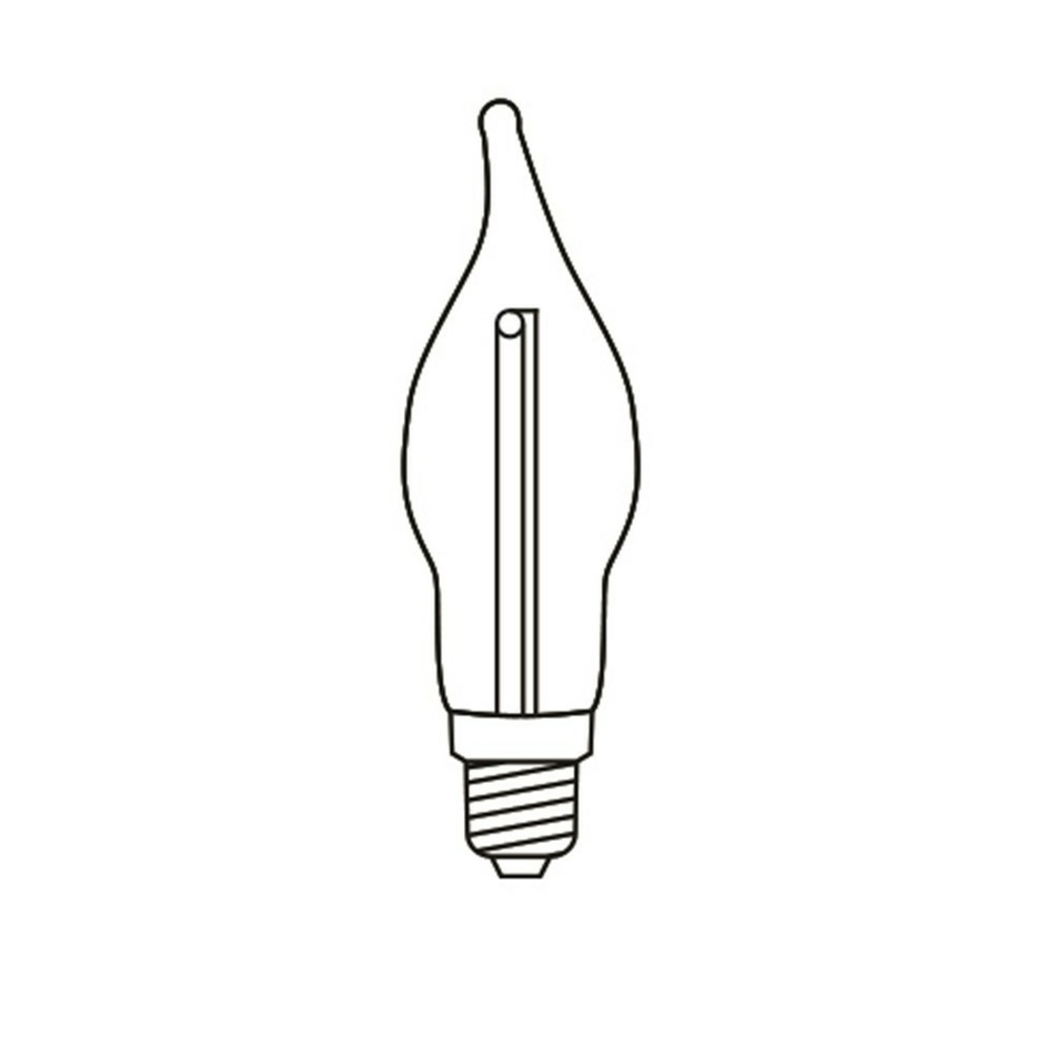 Produktové foto Adventní svícen s taženou žárovkou LED Filament, dub