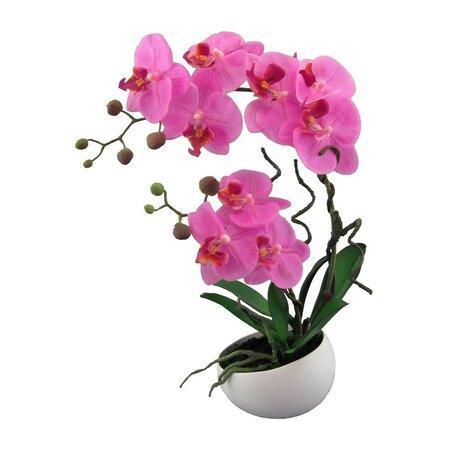 Sztuczna Orchidea w doniczce różowy, 42 cm