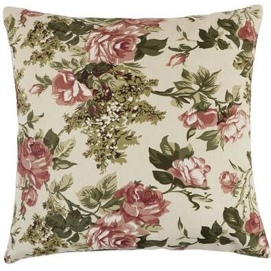Berta Fáradt rózsaszín rózsa párna, 45 x 45 cm