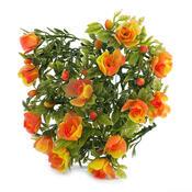 Umělá květina růže oranžová