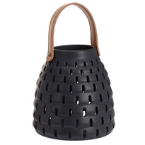 Felinar ceramic Karima, negru