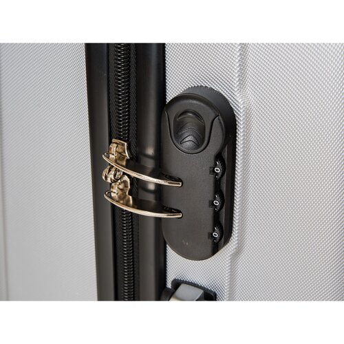 Pretty UP Cestovní skořepinový kufr ABS07 S, šedá