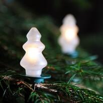 Svetelná reťaz Vianočný stromček biela, 12 žiaroviek