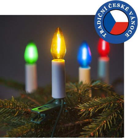 Súprava Felicia MONO LED Filament farebná SV-16, 16 žiaroviek
