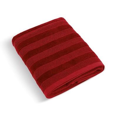 Ručník Luxie červená, 50 x 100 cm