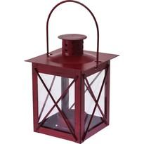 Latarenka metalowa na świeczkę tea light Redline czerwony, 10 x 14 cm
