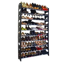 Botis 4 cipőtartó, fekete, 154 cm