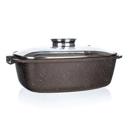 Banquet Pekáč s nepřilnavým povrchem PREMIUM Dark Brown 39,5 x 22 x 11 cm, s poklicí s aroma kn