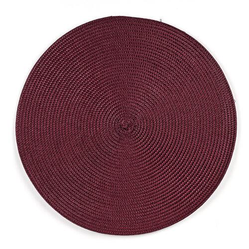 Prestieranie Deco okrúhle vínová, pr. 35 cm, sada 4 ks