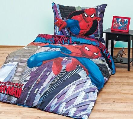 Dětské povlečení Spiderman, 140 x 200 cm, 70 x 90 , vícebarevná, 140 x 200 cm, 70 x 90 cm