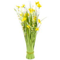 Vazba umělých lučních květin 70 cm, žlutá