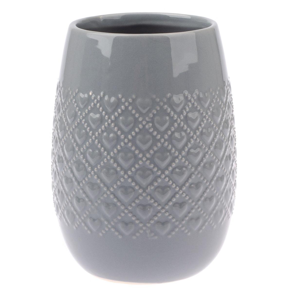 Keramický obal na květináč Fains šedá, 18 cm