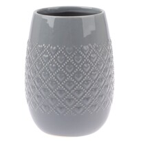 Keramická váza Fains šedá, 18 cm