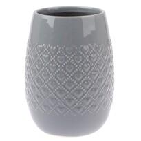 Keramická váza Fains sivá, 18 cm