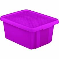 Curver Úložný box Essentials s víkem 20 l, fialová