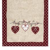 Faţă de masă de Crăciun Inimă bulină, roşu, 40 x 90 cm