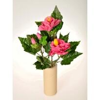 Hibiszkusz művirág csokor, rózsaszín, 35 cm