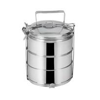 Orion élelmiszer-hordozó 3 x 1,3 l, rozsdamentes acél