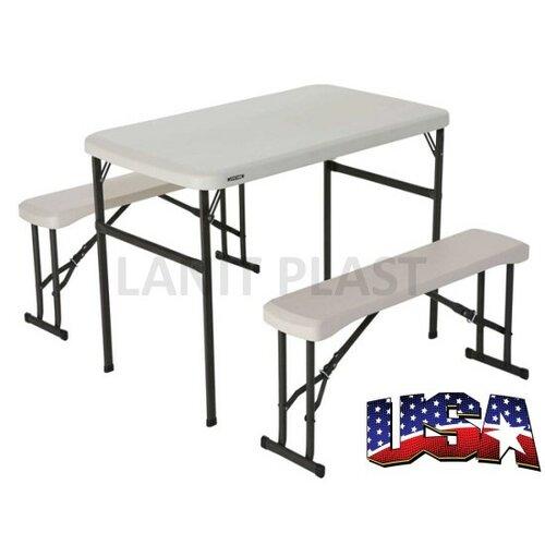 Lifetime - Campingový stôl a 2x lavica (80353),