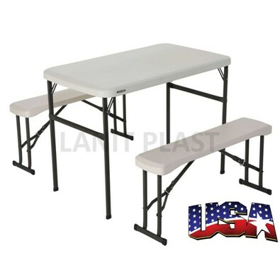Lifetime - Campingový stôl a 2x lavica (80353)
