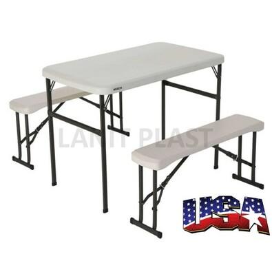 Lifetime - campingový stůl a 2x lavice (80353)